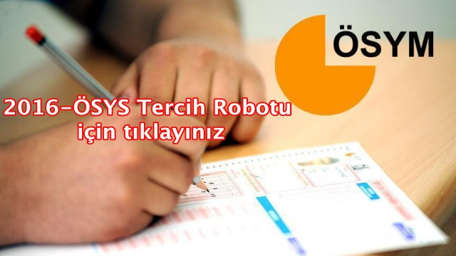 2016-ÖSYS Tercih Robotu yayında!