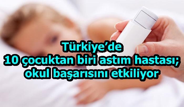 Türkiye'de 10 çocuktan biri astım hastası; okul başarısını etkiliyor