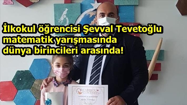 İlkokul öğrencisi Şevval Tevetoğlu matematik yarışmasında dünya birincileri arasında!