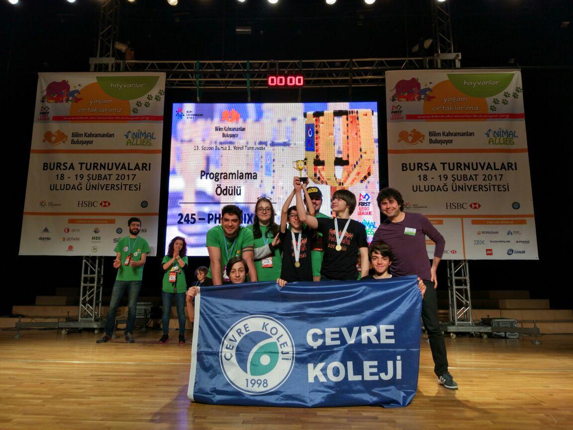 """Çevre Kolejine """"First Lego League Yarışması""""nda 2 ödül"""