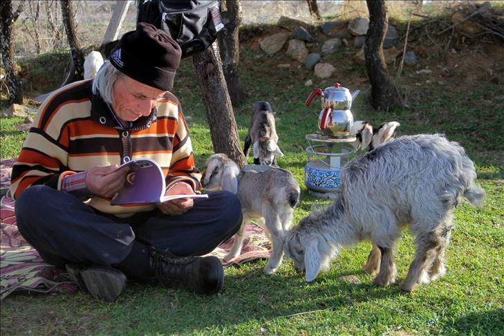 63 yaşındaki 'Üniversiteli çoban'ın okuma azmi