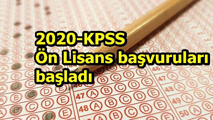 2020-KPSS Ön Lisans başvuruları başladı
