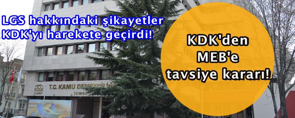 LGS hakkındaki şikayetler KDK'yı harekete geçirdi! KDK'den MEB'e tavsiye kararı!