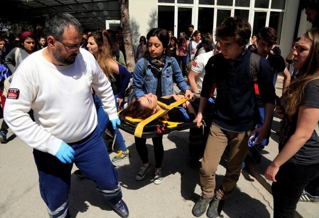 Anadolu Üniversitesi yerleşkesinde arbede