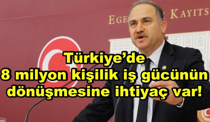 Türkiye'de 8 milyon kişilik iş gücünün dönüşmesine ihtiyaç var!