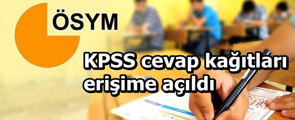 KPSS cevap kağıtları erişime açıldı