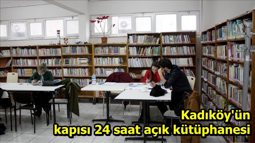 Kadıköy'ün kapısı 24 saat açık kütüphanesi