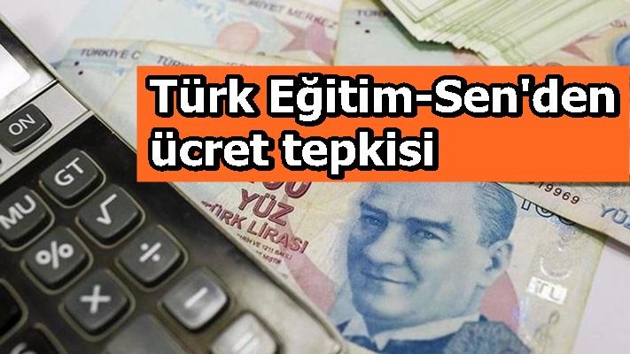 Türk Eğitim-Sen'den ücret tepkisi