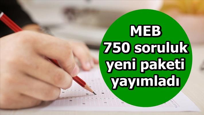 MEB 750 soruluk yeni paketi yayımladı