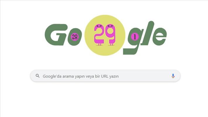 Google'dan 'artık gün'e özel doodle