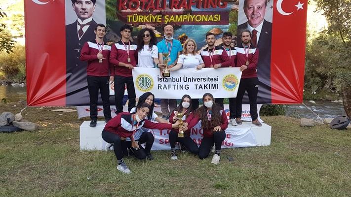 İstanbul Üniversitesi Rafting Takımı Türkiye Şampiyonu Oldu