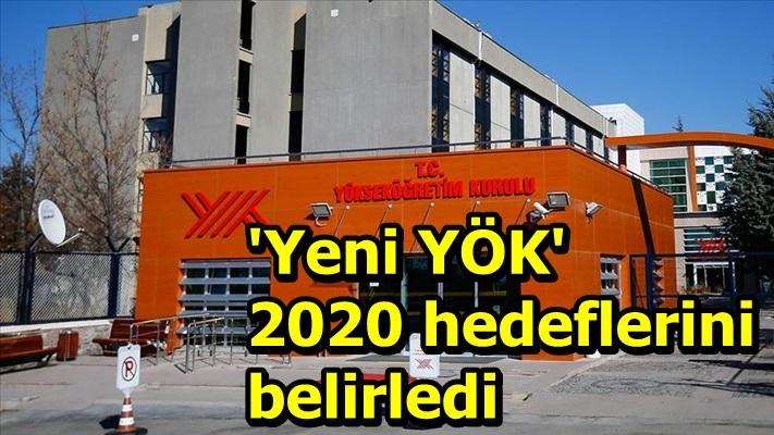 'Yeni YÖK' 2020 hedeflerini belirledi