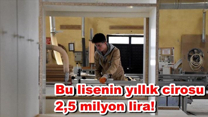 Bu lisenin yıllık cirosu 2,5 milyon lira!
