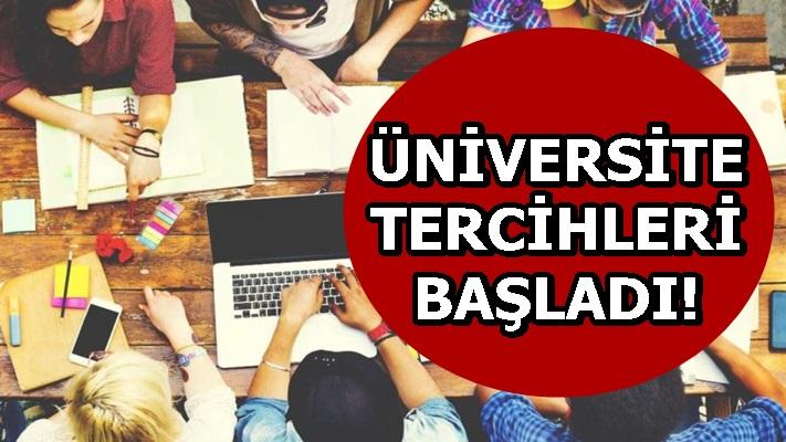 ÜNİVERSİTE TERCİHLERİ BAŞLADI!