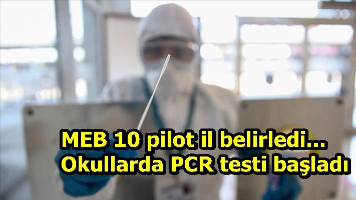 MEB 10 pilot il belirledi... Okullarda PCR testi başladı