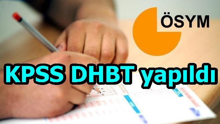 KPSS DHBT yapıldı