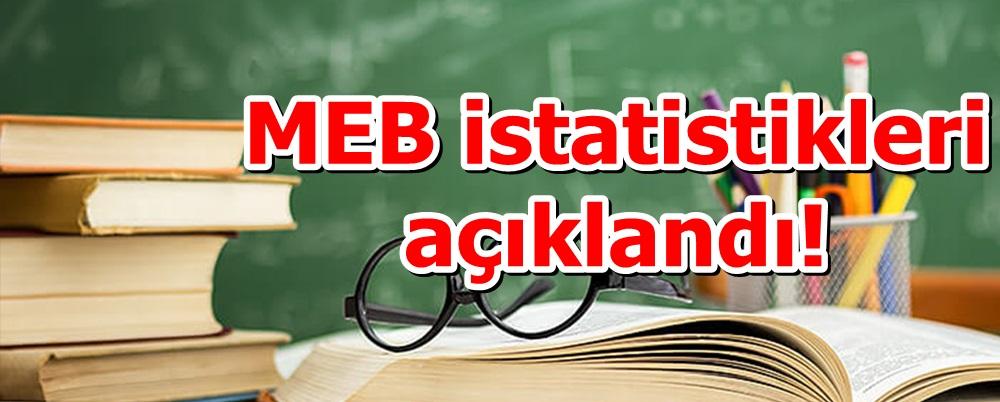 MEB istatistikleri açıklandı!