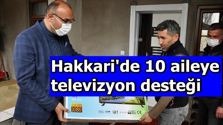 Hakkari'de 10 aileye televizyon desteği