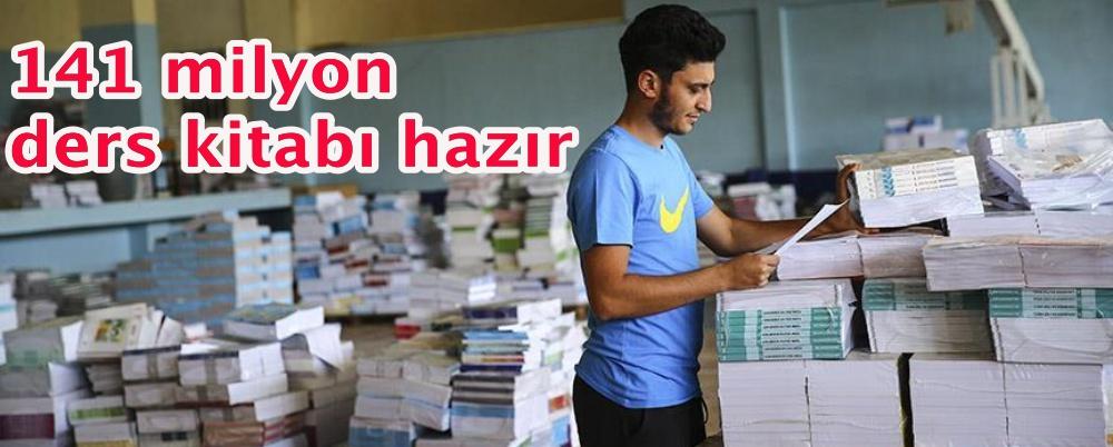 Öğrencilere dağıtılacak 141 milyon ders kitabı hazır
