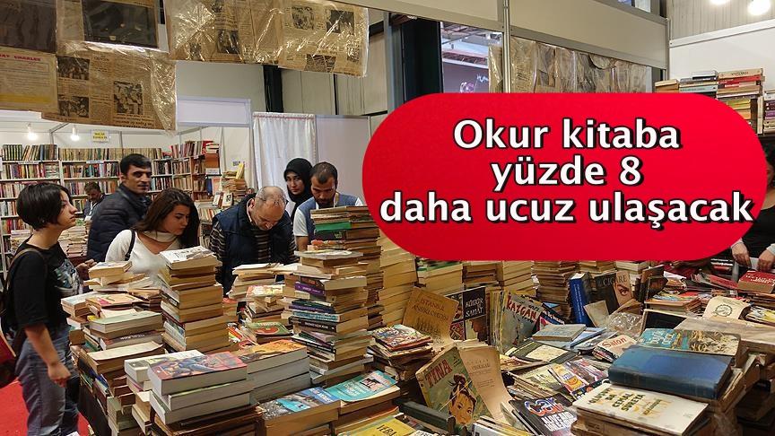 'Okur kitaba yüzde 8 daha ucuz ulaşacak'