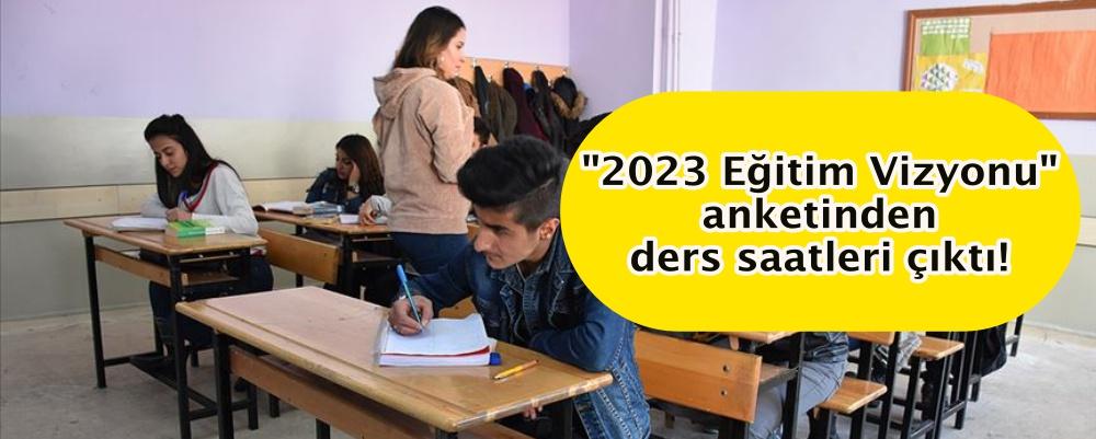 """""""2023 Eğitim Vizyonu"""" anketinden ders saatleri çıktı!"""