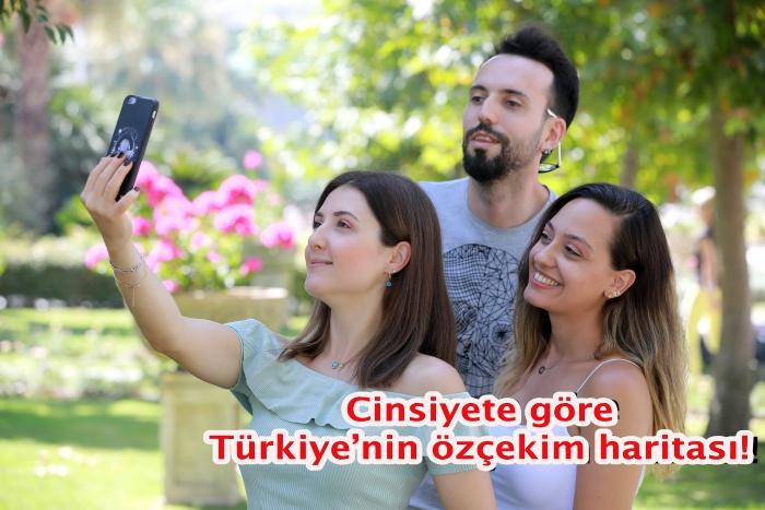Cinsiyete göre Türkiye'nin özçekim haritası!