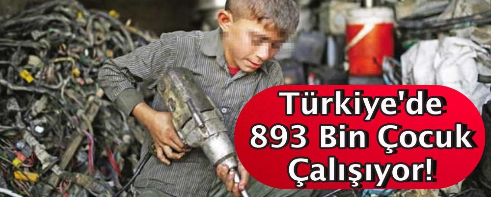 Türkiye'de 893 Bin Çocuk Çalışıyor!