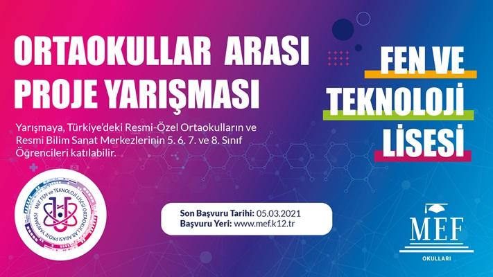 MEF Fen ve Teknoloji Lisesi Proje Yarışması başvuruları başladı