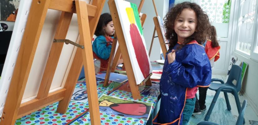 Çocuklar, resimleriyle burs toplayacak