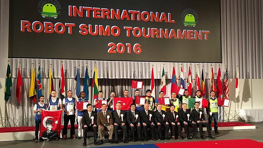 'Sumo robot' yarışında Türkiye yine birinci