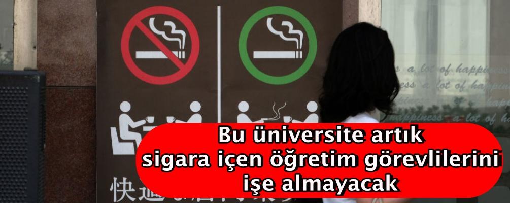 Japonya'da bir üniversite artık sigara içen öğretim görevlilerini işe almayacak