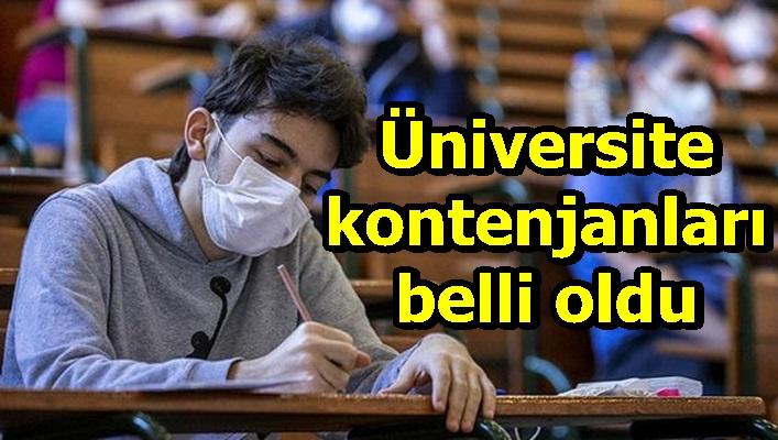 Üniversite kontenjanları belli oldu