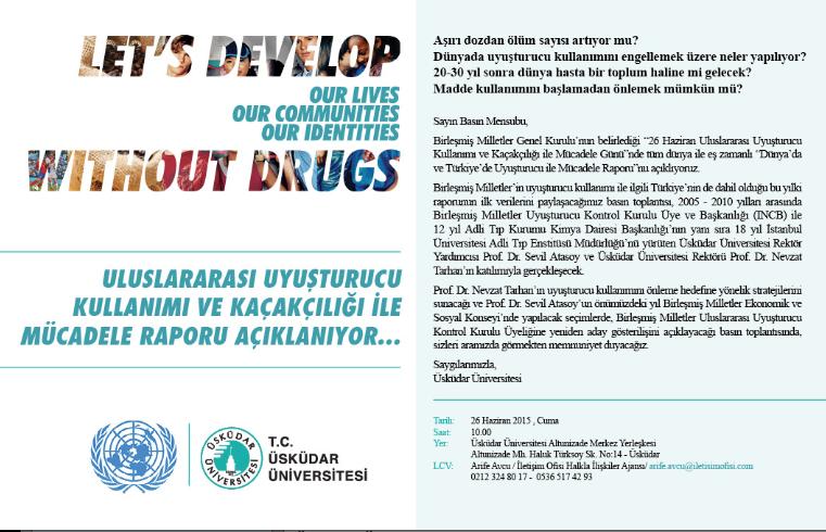 Uluslararası Uyuşturucu Kullanımı ve Kaçakçılığı ile Mücadele Raporu Açıklanıyor…