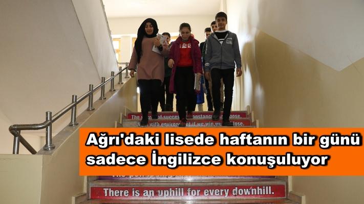 Ağrı'daki lisede haftanın bir günü sadece İngilizce konuşuluyor