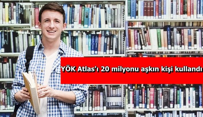 YÖK Atlas'ı 20 milyonu aşkın kişi kullandı