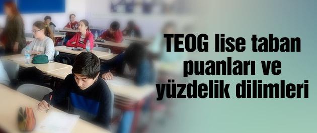 TEOG İstanbul Liseleri 2016 - Taban Puanları Yüzdelik Dilimleri
