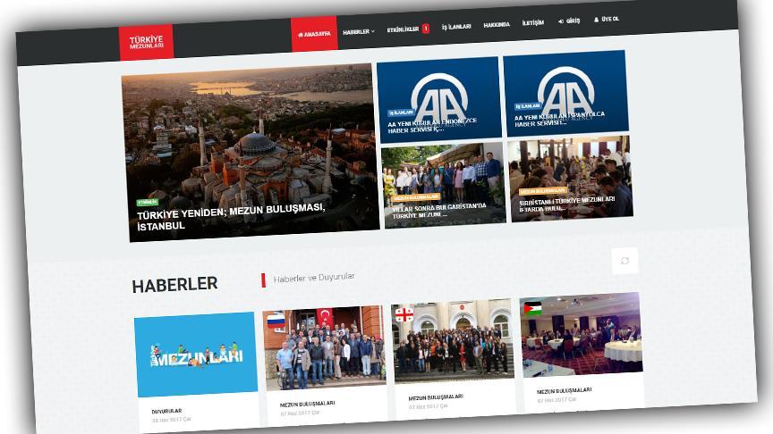 Türkiye Mezunları web sitesi açıldı