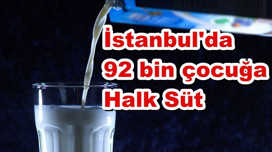 İstanbul'da 92 bin çocuğa Halk Süt