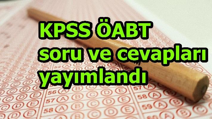 KPSS ÖABT temel soru kitapçıkları ve cevap anahtarları yayımlandı