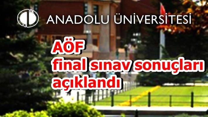 AÖF final sınav sonuçları açıklandı