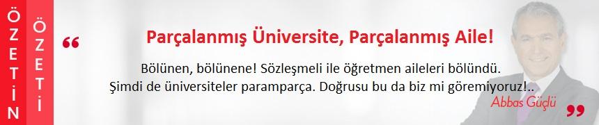 Parçalanmış Üniversite, Parçalanmış Aile!