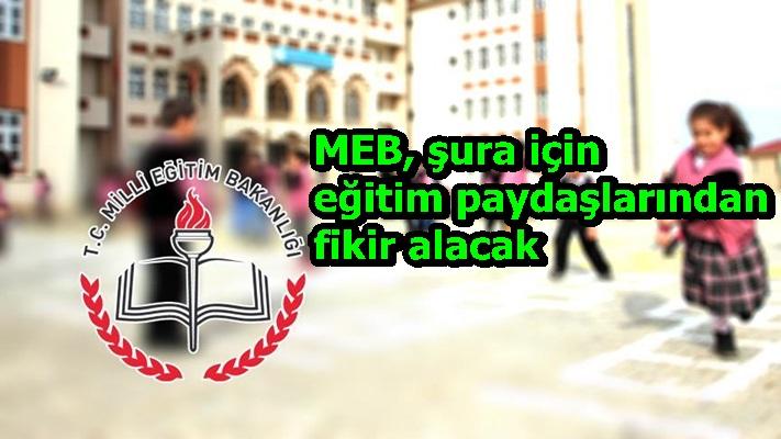 MEB, şura için eğitim paydaşlarından fikir alacak