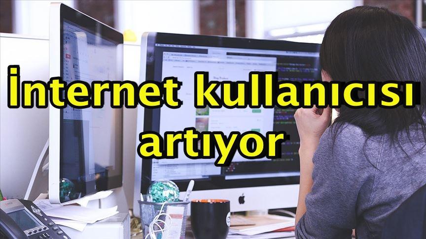 İnternet kullanıcısı artıyor