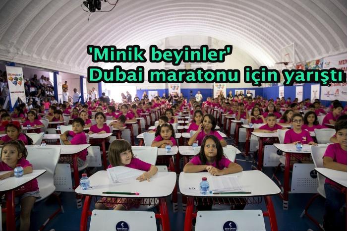 'Minik beyinler' Dubai maratonu için yarıştı