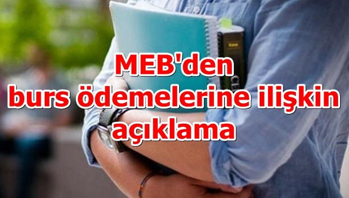 MEB'den burs ödemelerine ilişkin açıklama