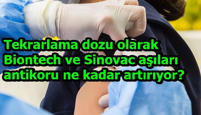 Tekrarlama dozu olarak Biontech ve Sinovac aşıları antikoru ne kadar artırıyor?