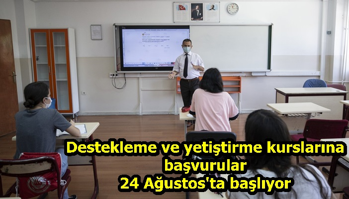 MEB'in destekleme ve yetiştirme kurslarına başvurular 24 Ağustos'ta başlıyor
