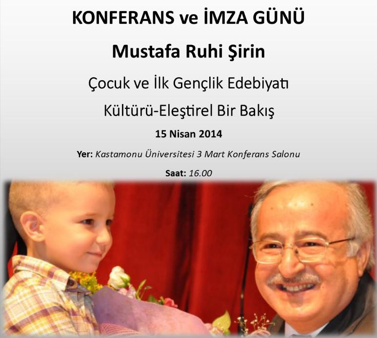 Mustafa Ruhi Şirin 15-16 Nisan'da Kastamonu'da Öğrencilerle Buluşacak