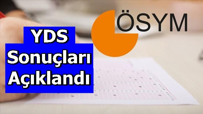 YDS sonuçları açıklandı