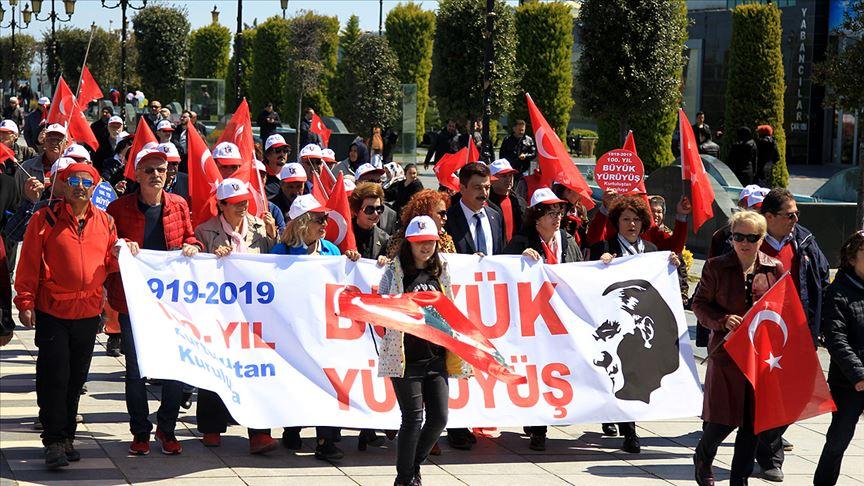 'Kurtuluştan Kuruluşa Büyük Yürüyüş' Samsun'dan başladı